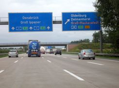 Autobahn in Germany - fast lane is for passing