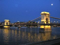 Budapest Chain Bridge At Night!