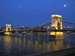 Budapest Chain Bridge At Night!