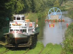 Elblag Canal Poland - colorful drawing wheel and all!