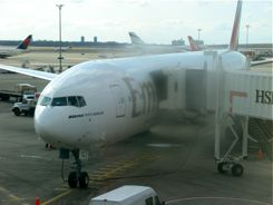 Emirates Airline 777 at JFK - ready for a long flight