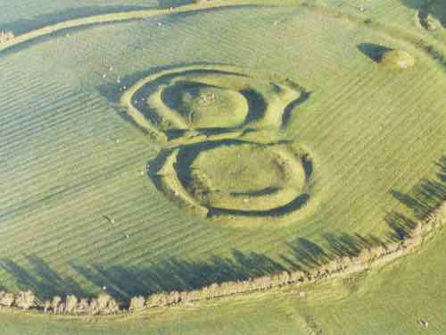 Hill of Tara - The aerial view they posted at the gate