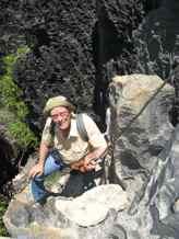 Mark climbing in Big Tsingy