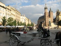 Krakow Market Square and St. Mary's Church