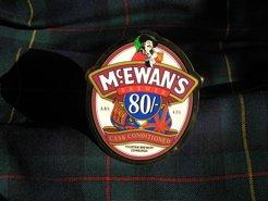 McEwan's beer pull and MacEwan tartan