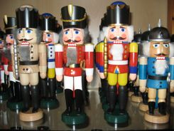 Nutcrackers in German Christmas Market Shop
