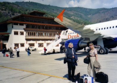 Carry-on size luggage in Bhutan Paro Airport