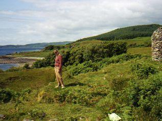 Standing on the Castle MacEwen site, Kilfinan Scotlan