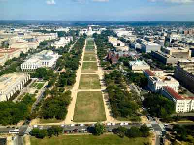 Washington DC Mall from the Washington Monument