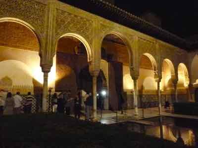 Alhambra glows at night
