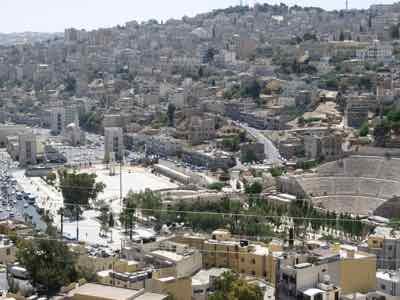 Amman, Jordan with Roman ruins