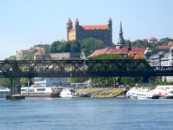 Arriving in Bratislava Slovakia from Budapest Hungary by hydrofoil