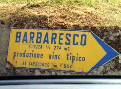 Direction and information sign Italy