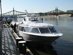 Boarding in Budapest to Hydrofoil the Danube