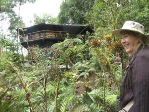 Hiking to our cloud forest cabana at Volcan Baru Panama