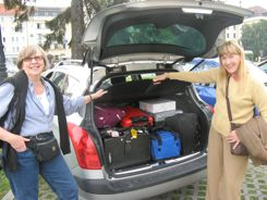 Carry-on size luggage packs better in cars too!