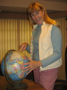 Choosing your destination by spinning a globe... not the best trick, but it can give you different ideas!
