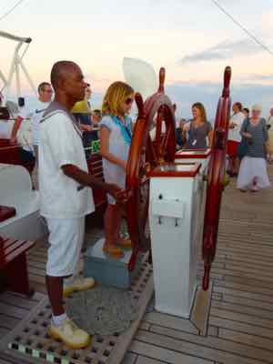 On family cruise vacations, kids can help sail the ship