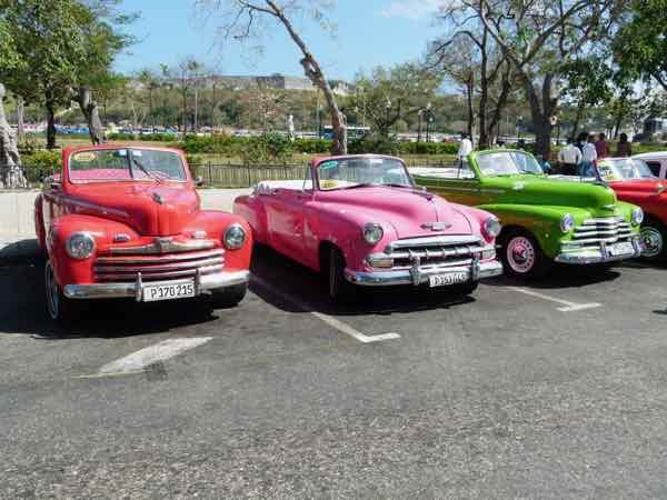 Classic cars near the Plaza de Armas, Havana