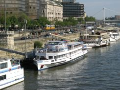 Danube Promenade and restaurant boats