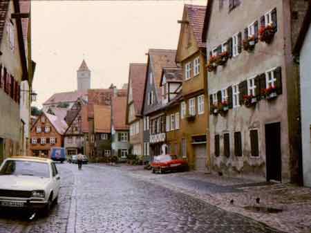 Dinkelsbuhl quiet streets