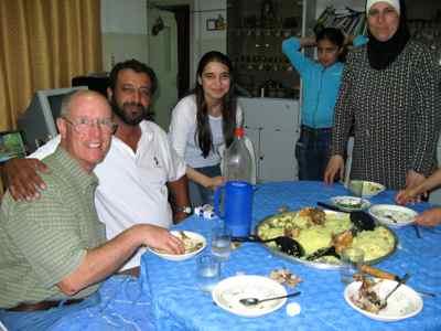 Mansaf for dinner with Jordanian friends