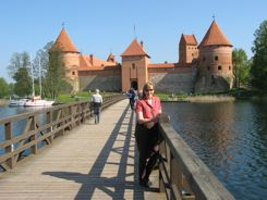 A sunny warm weather day at Trakai Castle Lithuania