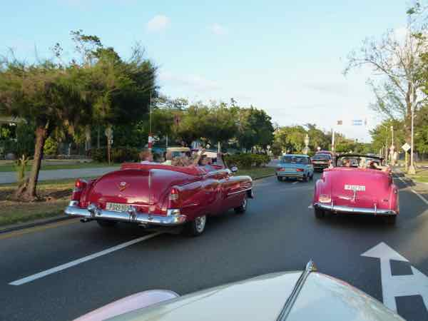 Classic cars on 5th Avenue in the Miramar district of Havana