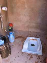 The foreign toilet in our Bedouin Camp, Jordan