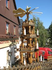 Giant Wooden Candle Pyramid Seiffen
