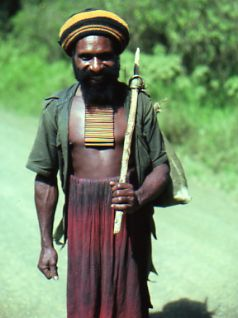 HItchhiker in Papua New Guinea - yes, there's a story here.