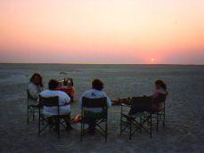 Sundowners on the Kalahari, near Jack's Camp