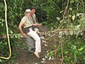 Jungle hike Amazonian Rainforest Peru - When you're planning a trip, think.. will I be able to handle ALL the obstacles?