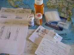 Travel Health tips - pills, prescriptions and more