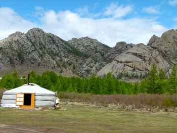 Our ger (yurt) in Terelj National Park Mongolia