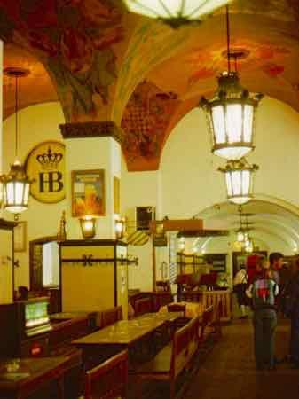 Inside Hofbrauhaus Munich Beer Hall