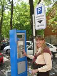 Parking in cities - often you need to pay and display