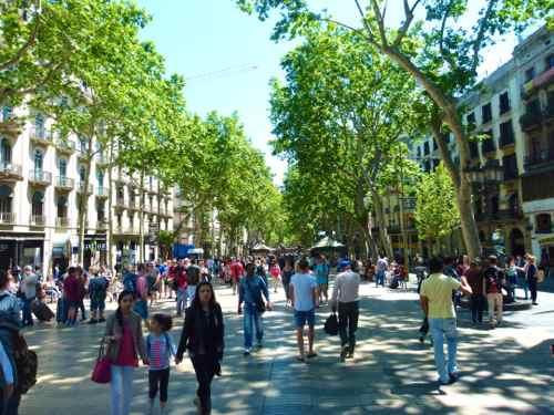 The Rambla, Barcelona