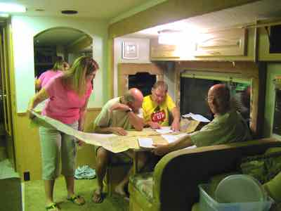 Reading road maps - sometimes a group activity