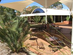 Restaurant and shop at Ayers Rock Resort