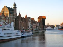 Gdansk Poland - river front walk