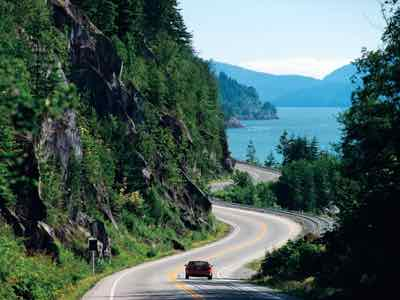 Sea to Sky HIghway in British Columbia