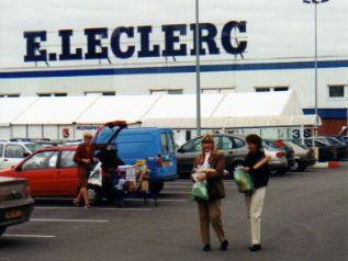 shopping on road trips at LeClercs in France