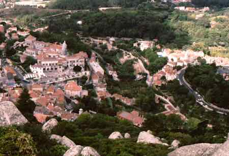View of Sintra from The Castelo dos Mouros