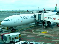 South African Airways at Johannesburg Airport