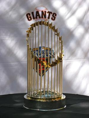 World Series Trophy was on display at Spring Training
