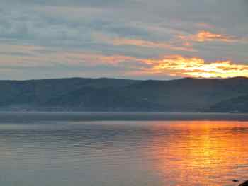Sunset over Lake Baikal, Russia