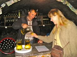 Tasting Tokajii at a commercial cellar