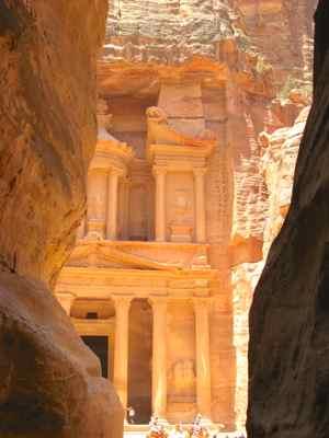 First Peek at the Treasury in Petra Jordan