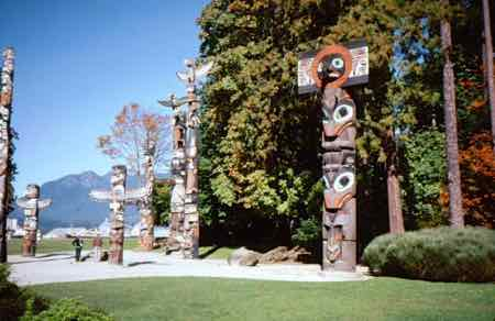 Totems in Stanley Park Vancouver